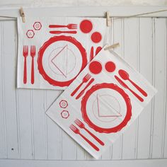 white placemats how to set a table following by SpazioCollective, €20.00