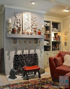How to paint a brick fireplace with Fusion Mineral Paint