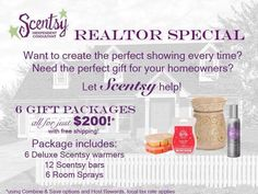 Calling ALL REALTORS!! These come individually wrapped, you pick the warmers and scents!!!! Don't miss out on this great deal!!! http://lisacravalho.scentsy.us