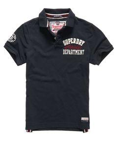 e17f8bb55ea Superdry Appliqué Chest Hit Polo Shirt Pique Polo Shirt