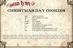 Merry Christmas from Mountain Breaths - Mountain Breaths Old Recipes, Vintage Recipes, Candy Recipes, Sweet Recipes, Holiday Recipes, Cookie Recipes, Christmas Recipes, Crisco Recipes, Recipies