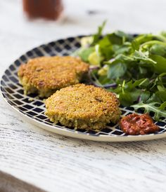 These tasty vegetarian burgers from Hemsley + Hemsley use quinoa and halloumi for a healthier alternative to meat or takeaways.