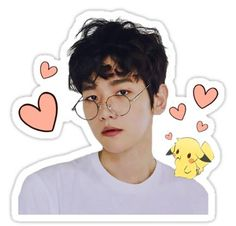Exo Kpop stickers featuring millions of original designs created by independent artists. Exo Stickers, Tumblr Stickers, Printable Stickers, Cute Stickers, Baekhyun, Exo Cartoon, Exo Lockscreen, Kpop Exo, Aesthetic Stickers