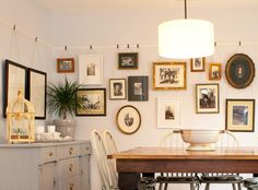 Little Green Notebook: House Tour: Emily and Todd's Dining Room - Picture Rails