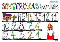 Tel je samen af?  Print de kleurplaat snel uit! Sinterklaas aftelkalender! Print hem af en kleur hem in. https://blog.kreanimo.com/sinterklaas-aftelkalender-print-snel-af/