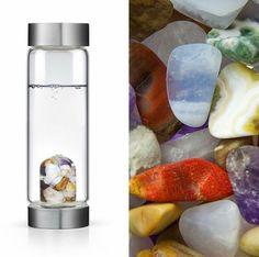 #gemwater #semipreciousstone #pierresemiprecieuse #gem #biocosmetic #savon #soap #huile #oil #wellness #creation-aum.com #Five Elements ViA Water Bottle : creation-aum.com