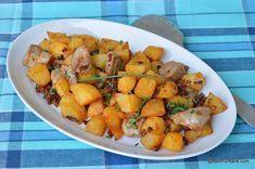 Friptură brașoveană cu cartofi rețeta de brassoi apropecsenye Pork Recipes, Carne, Bacon, Sweet Potato, Potatoes, Vegetables, Pork, Potato, Veggies