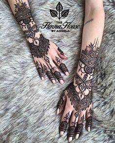 My Designs — The Henna House Pretty Henna Designs, Unique Mehndi Designs, Wedding Mehndi Designs, Mehndi Designs For Fingers, Latest Mehndi Designs, Henna Tattoo Designs, Wedding Henna, Henna Tattoos, Henna Tattoo Hand