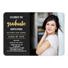 Celebrate | Photo Graduation Party Invitation 50% off All Cards, Labels & Stickers -- Announce Your Grad with Style!     Use Code: ANNOUNCEGRAD Ends today!