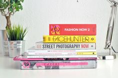 Stack of fashion books