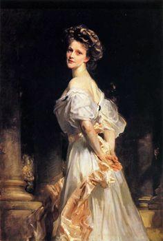 Nancy Witcher Astor, Viscountess Astor  by John Singer Sargent: 1909
