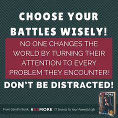 Some problems don't deserve our attention! Are you focused today? #BEMORE