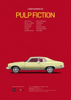 Cartel Pulp Fiction, poster A4 Cars And Films. €18,00, via Etsy.