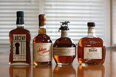 Drink Spirit's Holiday Gift Guide with four great American Whiskeys that make great gifts, including Blanton's, George Dickel, Larceny, and Johnny Drum. This looks like a hitlist right here. Whiskey Gifts, Cigars And Whiskey, Scotch Whiskey, Bourbon Whiskey, Good Whiskey Brands, Best Rye Whiskey, Bourbon Cocktails, Whiskey Cocktails, Fireball Drinks