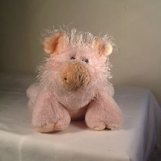 Webkinz Ganz stuffed plush toy floppy pink PIG HM002 8.5in. no code #GANZ