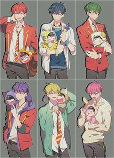 Discovered by ad astra. Find images and videos about osomatsu san, ichimatsu and karamatsu on We Heart It - the app to get lost in what you love. Anime W, Dark Anime Guys, Cute Anime Boy, Anime Love, Osomatsu San Doujinshi, Ichimatsu, The Villain, Yandere, Cute Art