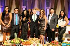 The cast of Bravo TV Series' Shahs of Sunset, at the Reunion filming at Taglyan.