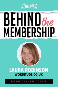 Laura Robinson from Worditude joins Behind the Membership this week for the 10th and final episode of Season 1.    The Worditude Club is still in it's first year and Laura talks with us about how the membership has already changed and evolved in that time, why she is aiming for consistency more than scale, how collaborating with others has helped growth and also how the membership fits in with her one-to-one services as well. And much more…