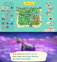 Animal Crossing Wild World, Animal Crossing Guide, Animal Crossing Fan Art, Animal Crossing Characters, Animal Crossing Qr Codes Clothes, Dream Code, Ac New Leaf, Motifs Animal, Map Design