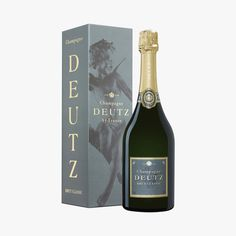 Champagne Deutz brut classic - Deutz - Find this product on Bon Marché website - La Grande Epicerie de Paris Champagne Deutz, Wine, Drinks, Classic, Gourmet Gifts, Drinking, Derby, Beverages, Drink