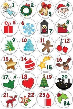 Advent calendar in toilet paper rolls - Advent calendar to make - Diy Projects Christmas Calendar, Christmas Countdown, Christmas Art, Christmas Projects, Handmade Christmas, Christmas Ornaments, Winter Christmas, Christmas Ideas, Advent Calenders
