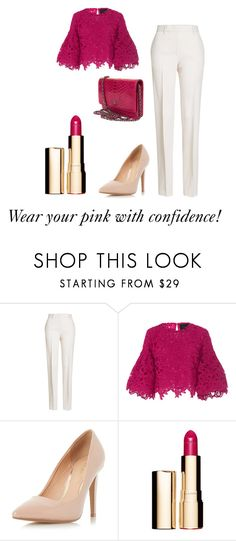 """Making pink pop."" by ofwfasion on Polyvore featuring Jil Sander, Costarellos, Dorothy Perkins, Clarins and Chanel"