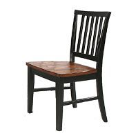 dining room chair  Arlington Black/Java side chair