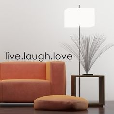 "Live Laugh Love Wall Decal Sticker Vinyl Art 3""h X 23""w. $12.99, via Etsy."