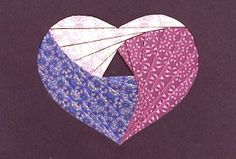 Iris Folding: Getting Started once done this could be appliqued to a quilt block. Neat idea and will have to try it!!