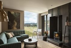 Two Bedroom Villa The Lodge at Kinloch Taupo Accommodation Taupo District Luxury Accommodation, Rustic Industrial, Two Bedroom, Lodges, Hotel Offers, Guest Room, New Zealand, Beautiful Homes, Villa
