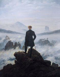 Le voyageur au-dessus de la mer de nuages (ou Le voyageur contemplant une mer de nuages) - Caspar David Friedrich (1774-1840) - 1818.