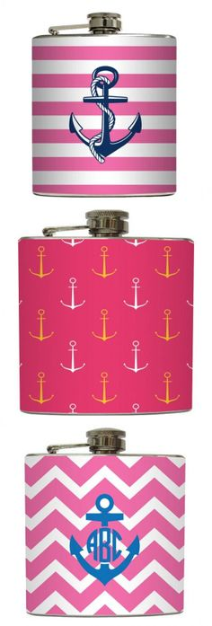 Nautical Anchor Flasks // even tho I ain't a drinker.. I'm gna need all 3. Lol
