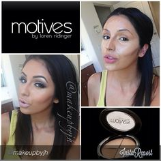 by #makeupbyjh  This is how I like to highlight and contour my face . #motivescosmetics
