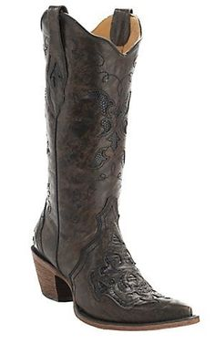 Slip into a pair of snip toe cowgirl boots from Cavender's where shipping always is free on all boots - any style and any brand. Cowgirl Boots, Western Boots, Western Wear, Country Wear, Corral Boots, Cowboy Up, Latest Shoes, Beautiful Shoes, Leather And Lace