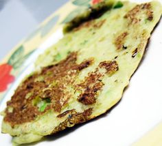 avocado banana pancake with pretty flecks of green  I don't know about anyone else but I really dig the combination of banana and avocado....