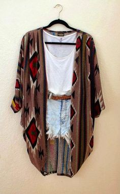 Oversized Comfy Cardigan With Shorts and Blouse