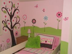 Image detail for -flower_wall_mural_girls_roo1.jpg