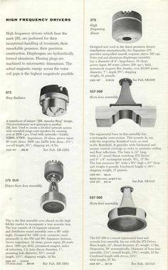 Pro Audio Speakers, Horn Speakers, Speaker Plans, Diy Tech, Loudspeaker, Audio Equipment, Audiophile, Vintage Advertisements, Chile