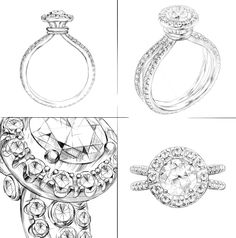 Wedding Ring Illustration on Behance