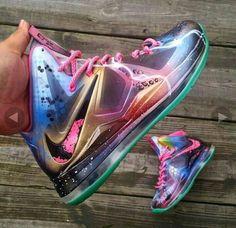 Galaxy print Nike  #tenis