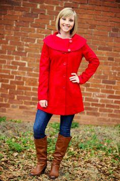 "The ""Winter Wonderland"" Coat.  $62.50.    ~  105 West Boutique, Abbeville SC.  (864) 366-WEST.  Look for us on Facebook!"