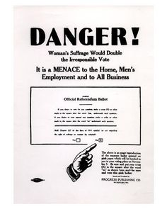 """Another vintage anti-suffrage movement ad. """"double the irresponsible vote"""" Weird Vintage, Vintage Ads, Retro Ads, Funny Vintage, Retro Advertising, Vintage Humor, Vintage Stuff, Vintage Posters, Anti Suffrage"""