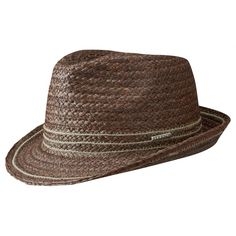 258d970f271 Sophisticated straw hat from Stetson for sunny days. Terrytown Trilby  Raffia Hat by Stetson with fast shipping   money back satisfaction  guarantee.