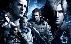 Sherry-Leon-Chris-Helena-Jake-Piers ( RE6 )