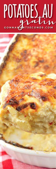Classic Potatoes Au Gratin. Sooo Rich. Sooo Delicious. Sooo Lusciously Cheesy.