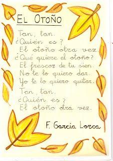 El otoño - F.G. Lorca Dual Language Classroom, Bilingual Classroom, Spanish Classroom, Spanish Songs, Spanish Lessons, Spanish Memes, Elementary Spanish, Teaching Spanish, Spanish Activities