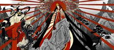 Amaterasu Omikami, the sun goddess, is a popular Japanese Kami worshipped in Shinto religion. Japanese Goddess, Japanese Mythology, Japanese Prints, Japanese Art, Japanese Patterns, Amaterasu Omikami, Susanoo, Cool Paintings, Gods And Goddesses