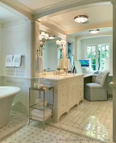 Wellesley Collab Master Bath Architecture By Catalano Architects Inc Built The Remodeling Company Interior Design Benson Interiors Woodwork