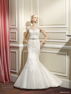moonlight collection fall 2014 wedding dress j6328 front view