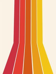 Rad - retro throwback stripe beach vibes minimal art Framed Art Print by seventy eight - Vector Black - MEDIUM (G Fond Design, Retro Design, Vintage Designs, Retro Color, Retro Art, Retro Kunst, Art Minimaliste, Minimal Art, Retro Wallpaper